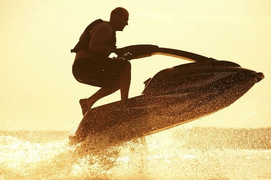 Jet Ski On Waves